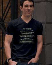 FIRST AMENDMENT V-Neck T-Shirt lifestyle-mens-vneck-front-2