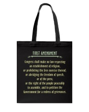 FIRST AMENDMENT Tote Bag thumbnail