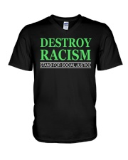 DESTROY RACISM V-Neck T-Shirt tile
