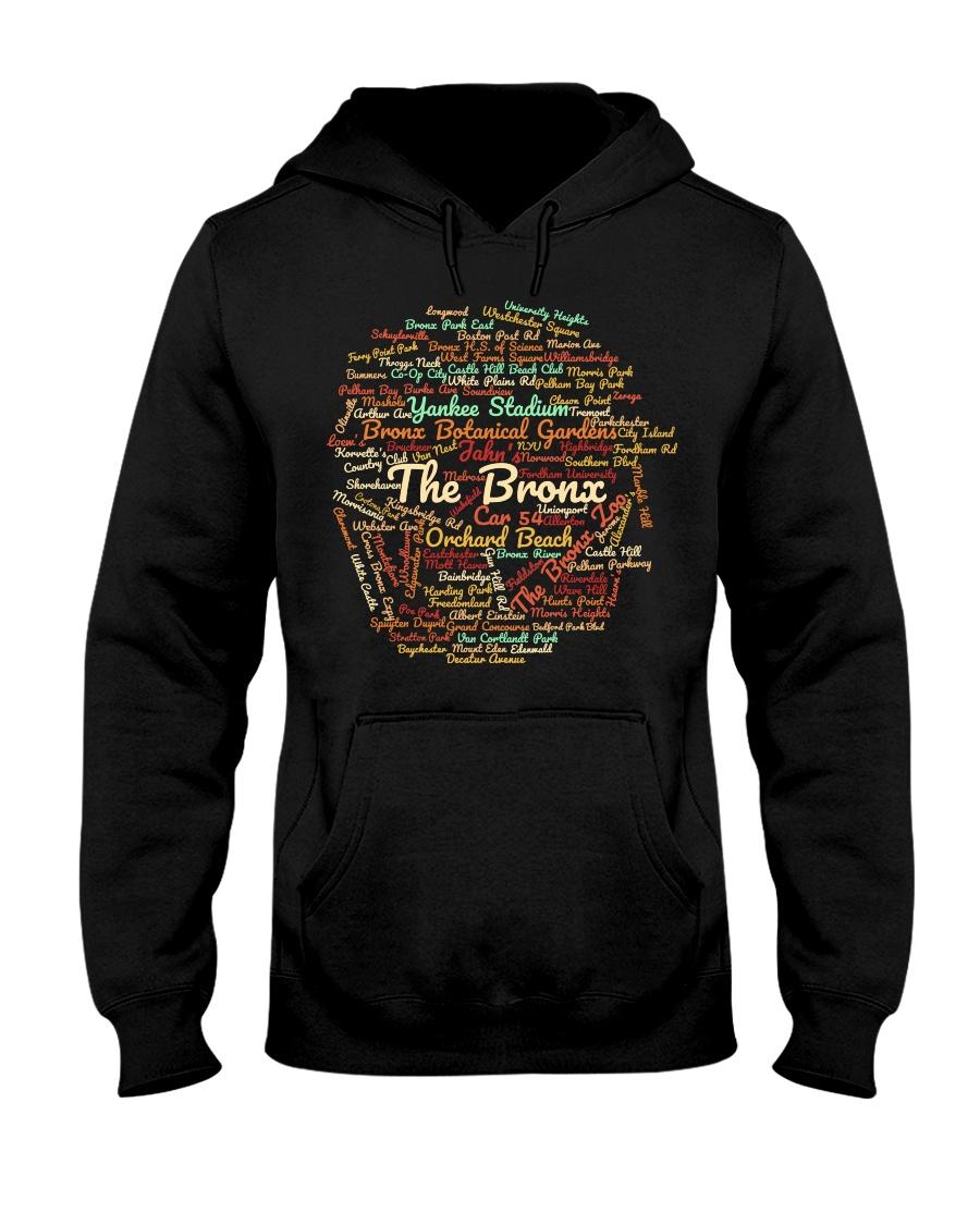 The Bronx Word Cloud - Final Version Hooded Sweatshirt