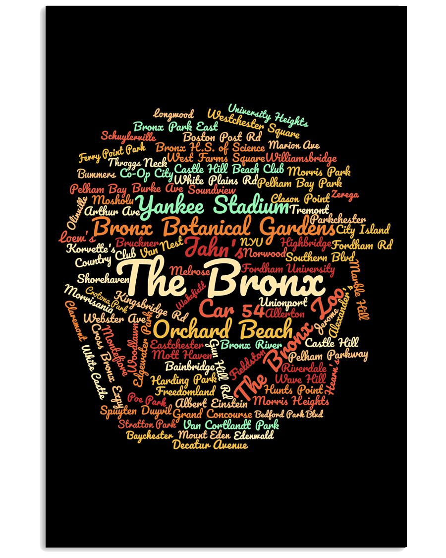 The Bronx Word Cloud - Final Version 24x36 Poster