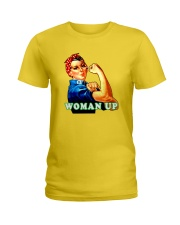 WOMAN UP Ladies T-Shirt front