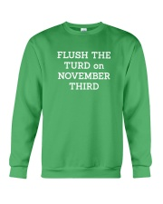 FLUSH THE TURD - WHITE LETTERING Crewneck Sweatshirt thumbnail