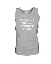 FLUSH THE TURD - WHITE LETTERING Unisex Tank thumbnail