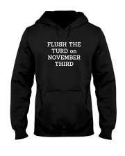 FLUSH THE TURD - WHITE LETTERING Hooded Sweatshirt thumbnail