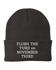 FLUSH THE TURD - WHITE LETTERING Knit Beanie thumbnail