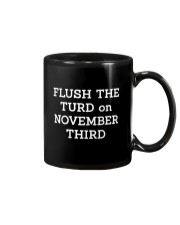 FLUSH THE TURD - WHITE LETTERING Mug thumbnail