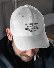 FLUSH THE TURD Embroidered Hat garment-embroidery-hat-lifestyle-02