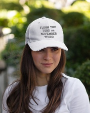 FLUSH THE TURD Embroidered Hat garment-embroidery-hat-lifestyle-07