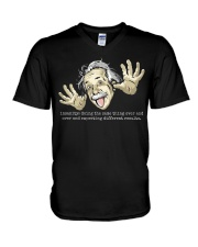 EINSTEIN - INSANITY V-Neck T-Shirt front