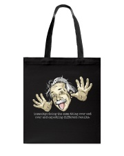 EINSTEIN - INSANITY Tote Bag tile