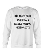 BIRTHPLACE EARTH Crewneck Sweatshirt thumbnail