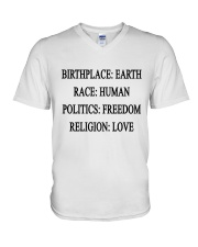 BIRTHPLACE EARTH V-Neck T-Shirt thumbnail