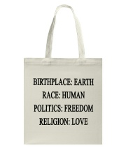 BIRTHPLACE EARTH Tote Bag thumbnail