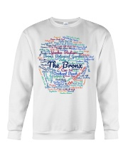 Bronx Wordcloud for Light Colors Crewneck Sweatshirt thumbnail