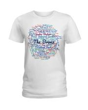 Bronx Wordcloud for Light Colors Ladies T-Shirt thumbnail