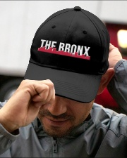 THE BRONX HAT with RED Embroidered Hat garment-embroidery-hat-lifestyle-01