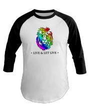 Live and Let Live PRIDE Baseball Tee tile