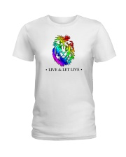 Live and Let Live PRIDE Ladies T-Shirt thumbnail