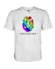 Live and Let Live PRIDE V-Neck T-Shirt thumbnail