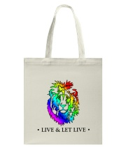 Live and Let Live PRIDE Tote Bag thumbnail
