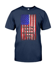 FLUSH THE TURD - FLAG VERSION Classic T-Shirt front
