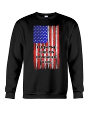 FLUSH THE TURD - FLAG VERSION Crewneck Sweatshirt thumbnail