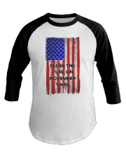 FLUSH THE TURD - FLAG VERSION Baseball Tee thumbnail