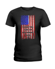 FLUSH THE TURD - FLAG VERSION Ladies T-Shirt thumbnail