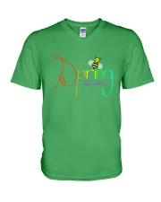 Spring Bee V-Neck T-Shirt thumbnail