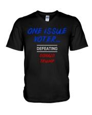 ONE ISSUE VOTER V-Neck T-Shirt thumbnail