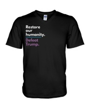Restore our humanity V-Neck T-Shirt thumbnail