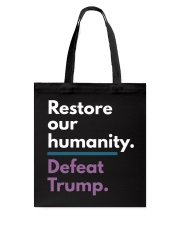 Restore our humanity Tote Bag thumbnail
