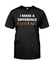 I MAKE A DIFFERENCE Premium Fit Mens Tee front