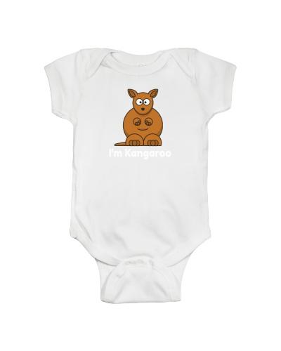 Cute baby onesie with Kangaroo print