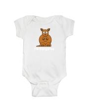 Cute baby onesie with Kangaroo print Onesie front
