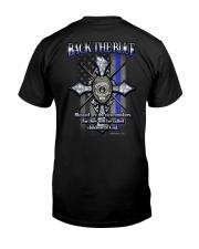 Thin Blue Line T Shirt - Law Enforcement Classic T-Shirt back