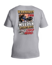 Welder does not play well with stupid people V-Neck T-Shirt thumbnail