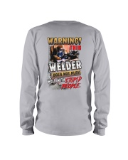 Welder does not play well with stupid people Long Sleeve Tee thumbnail