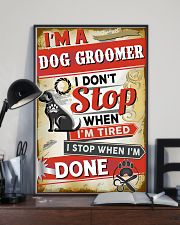 Awesome Dog Groomer 11x17 Poster lifestyle-poster-2