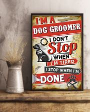 Awesome Dog Groomer 11x17 Poster lifestyle-poster-3