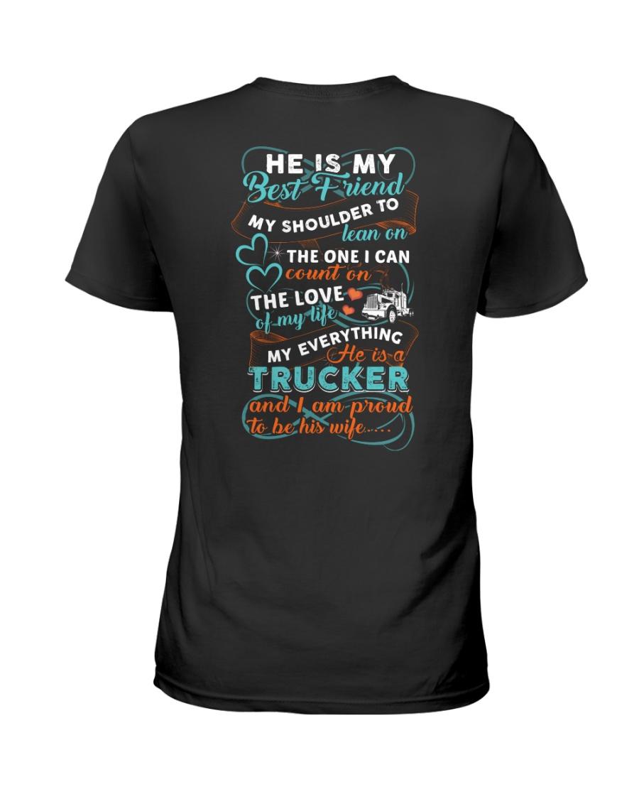 Trucker's Wife Best Friend Ladies T-Shirt