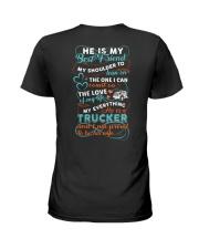 Trucker's Wife Best Friend Ladies T-Shirt back