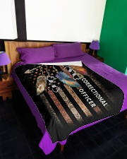 "Correctional Officer Large Fleece Blanket - 60"" x 80"" aos-coral-fleece-blanket-60x80-lifestyle-front-01"