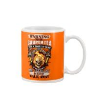 Warning Twisted Mind Carpenter Mug thumbnail