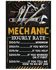 Mechanic's Hourly Rate 11x17 Poster front