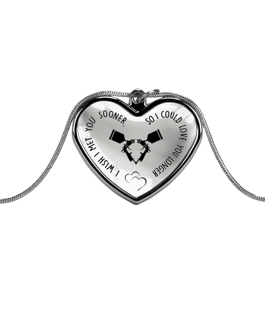 Cute Painter's Lady Metallic Heart Necklace