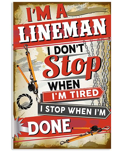 Awesome Lineman's Canvas and Posters