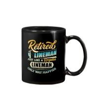 Retired Lineman - Only Way Happier Mug thumbnail
