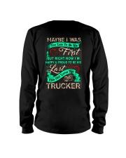 Cute Trucker's Lady Hoodie Long Sleeve Tee thumbnail